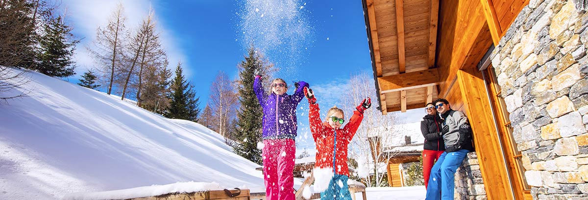 Enjoy winter holidays in a chalet